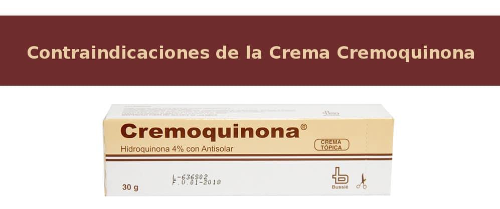 Contraindicaciones de la Crema Cremoquinona